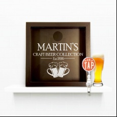 Personalised Craft Beer Cap Lover Collectors Box