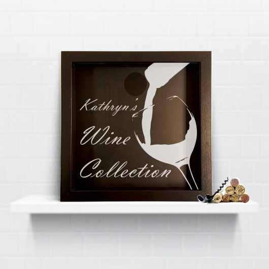 Personalised Bottle & Glass Wine Cork Collection