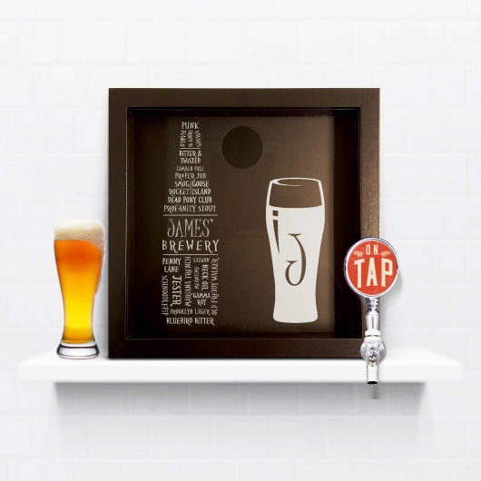 Personalised Beer Cap Typography Keepsake Box