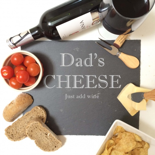 Personalised Dad Slate Cheese Board