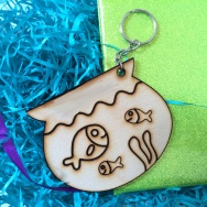Personalised Fishbowl Animal Keyring