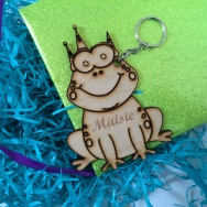 Personalised Frog Animal Keyring