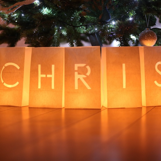 Personalised Merry Christmas Candle Lanterns