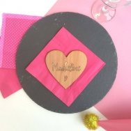 Personalised Heart Name Table Place Setting