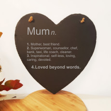 Mum Definition Slate heart
