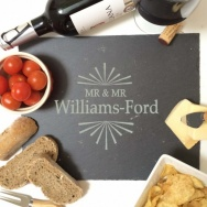 Personalised Mr & Mr Slate Cheese Board