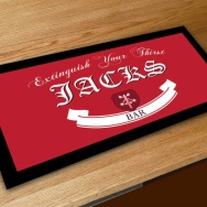 Personalised Extinguish Your Thirst Bar Runner