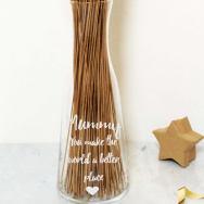 Personalised You Make this World a Better Place Glass Vase