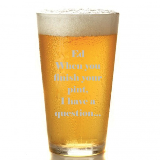 Personalised Marry Me Pint Glass