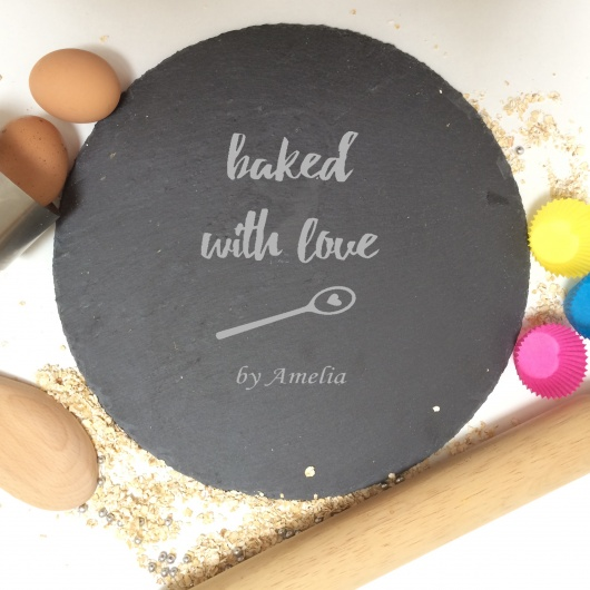 Personalised Baked with Love Cake Plate