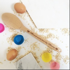 Personalised Mixed with Love Wooden Spoon
