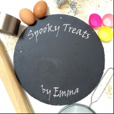 Personalised Halloween Spooky Treats Cake Plate