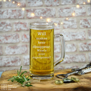 Personalised Superpower Beer Tankard