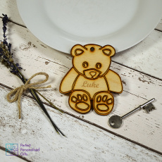 Personalised Teddy Bear Animal Keyring