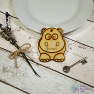 Personalised Hippo Animal Keyring