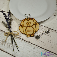 Personalised Owl Animal Keyring
