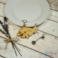 Personalised Shark Animal Keyring