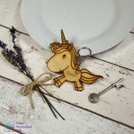 Personalised Unicorn Animal Keyring