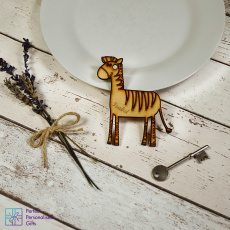 Personalised Zebra Animal Keyring