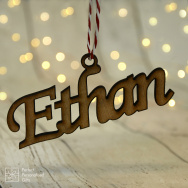 Wooden Name Bauble