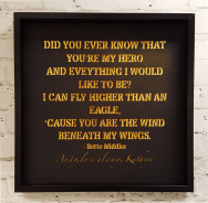 Personalised Lyric Framed Print