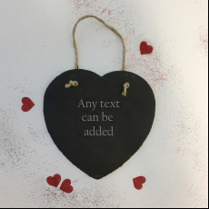 Personalised Any Message Valentine's Slate Heart
