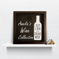 Personalised Keep Calm Wine Cork Collection Box