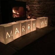 Personalised Marry Me Candle Bag Lanterns