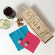 Personalised Thank You Teacher Wine Box