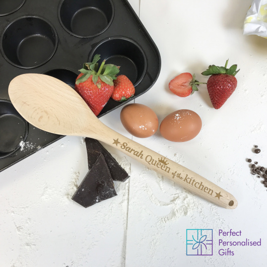 Personalised Queen of the Kitchen Wooden Spoon