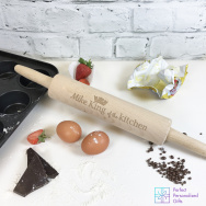 Personalised King of the Kitchen Rolling Pin