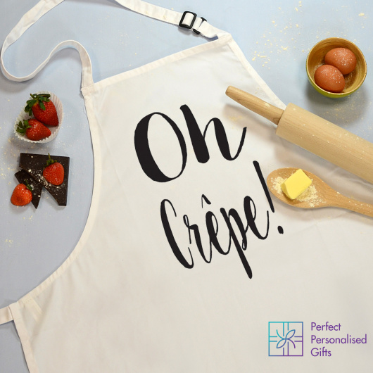 Personalised Oh Crepe Apron