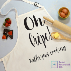 Personalised Oh Crepe... Cooking Apron