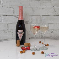 Personalised Fizz & Bubbles Prosecco Glass