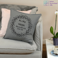 Personalised Mr & Mrs Wreath Cushion