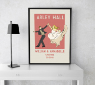 Personalised Wedding A4 Vintage Print