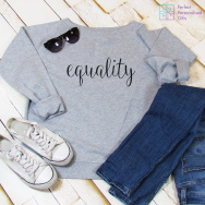 Personalised Equality Slouch Sweatshirt