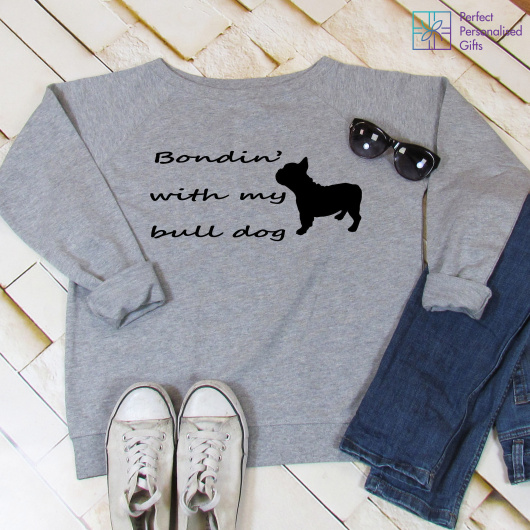 Personalised Bondin' With My Bull Dog Sweatshirt