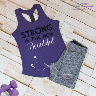 Gym Strong Is The New Beautiful TriDri Racerback Vest