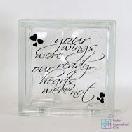 Personalised Remembrance In Memory LED Glass Block