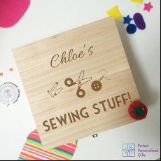 Personalised Sewing Craft Keepsake Box