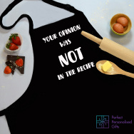Personalised Recipe Opinion Cooking Apron