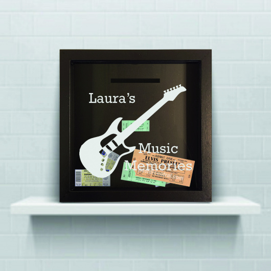 Personalised Guitar Gig Ticket Collection Box