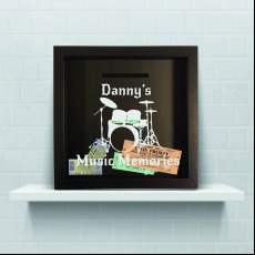 Personalised Drums Music Memories Ticket Keepsake Box