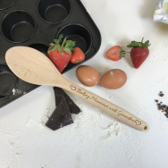 Personalised Baking Memories Wooden Spoon