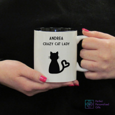 Personalised Crazy Cat Lady Mug