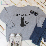 Crazy Cat Lady Slouch Fit Sweatshirt