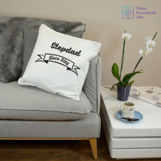 Personalised Daddy or Stepdad Since Cushion
