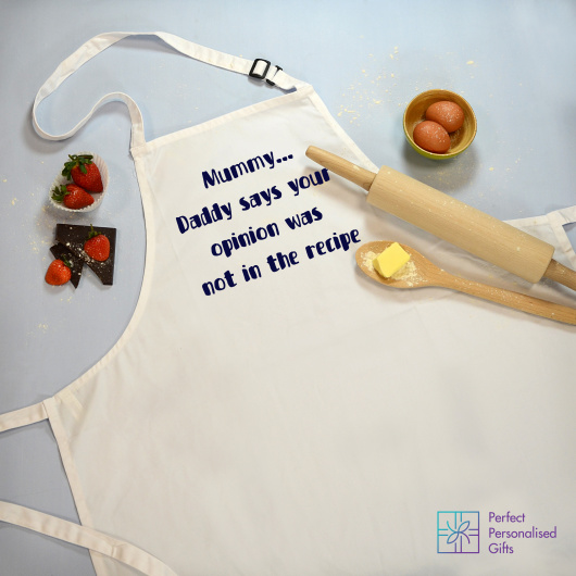 Personalised Opinion Not In The Recipe Personalised Apron