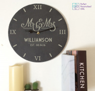 Mr And Mrs Slate Clock